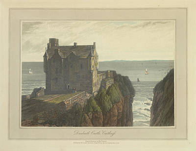 Dunbeath Castle In Caithness Print by British Library