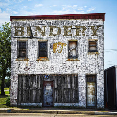 Duncan Bindery Building Front Print by David Waldo