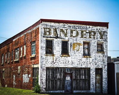 Duncan Bindery Building Profile Art Print by David Waldo