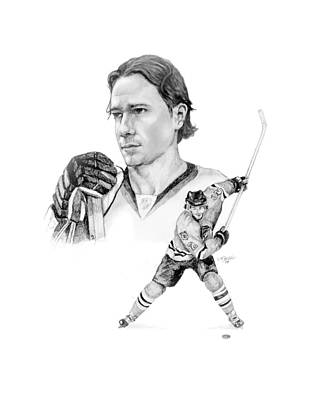 National Hockey League Drawing - Duncan Keith - Virtue by Jerry Tibstra