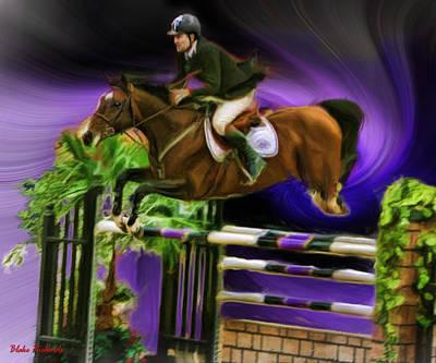 Duncan Mcfarlane On Horse Mr Whoopy Art Print