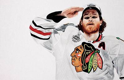 Chicago Blackhawks Drawing - Duncan Salutes by Jonathan Moore