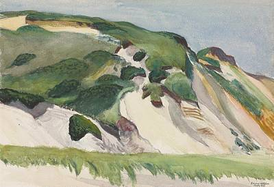 At Poster Painting - Dune At Truro by Edward Hopper