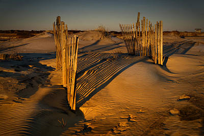 Photograph - Dune Erosion Fence Outer Banks Nc Img_3761 by Greg Kluempers