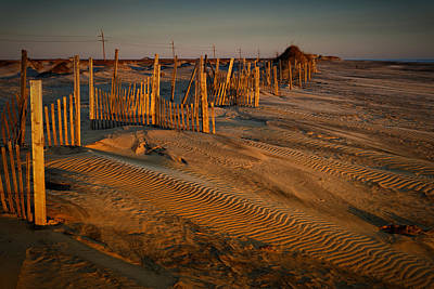 Photograph - Dune Erosion Fence Outer Banks Nc Img3748 by Greg Kluempers