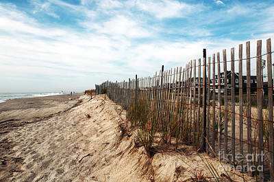 Photograph - Dune Fence by John Rizzuto
