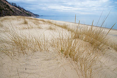 Photograph - Dune Grass On Lake Michigan by Mary Lee Dereske