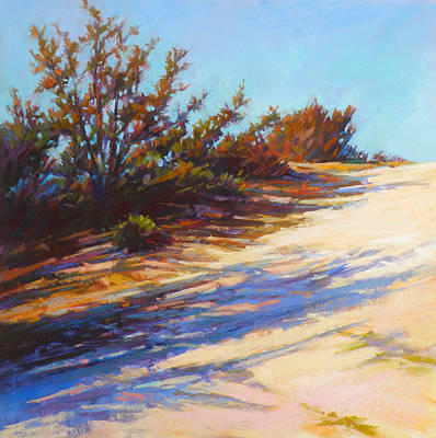 Wall Art - Painting - Dune Path by Ed Chesnovitch