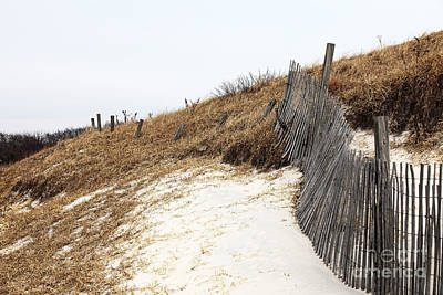 Sand Fences Photograph - Dune Path by John Rizzuto