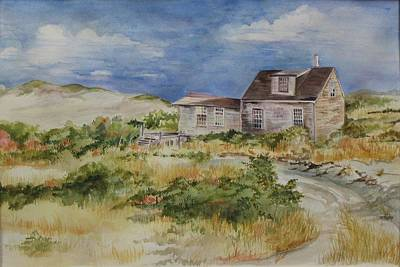 Cape Cod Painting - Dune Shack by Jane Getty