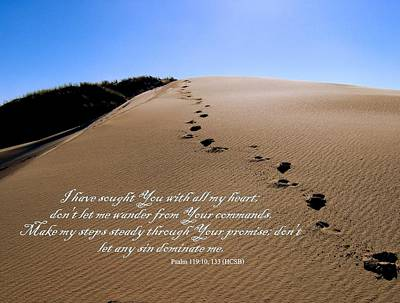 Dune Walk W/scripture 2 Art Print