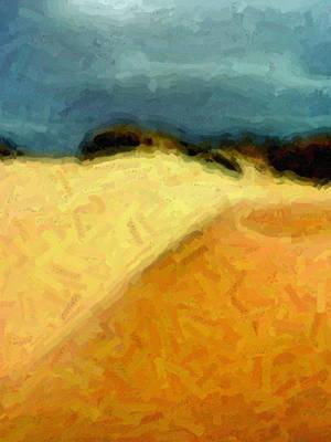 Southwest Digital Art - Dunes 1 by David Hansen