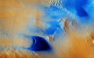 Terra Painting - Dunes And Wind Streaks In Arabia Terra by Celestial Images