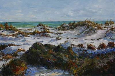 Park Scene Painting - Dunes At Fort Pickens by Theresa Grillo Laird