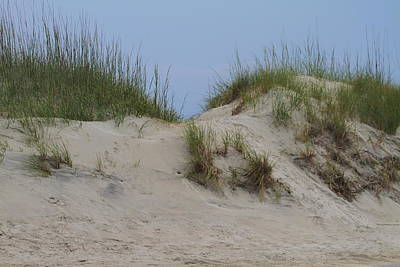 Dunes At Frisco Pier Art Print by Cathy Lindsey
