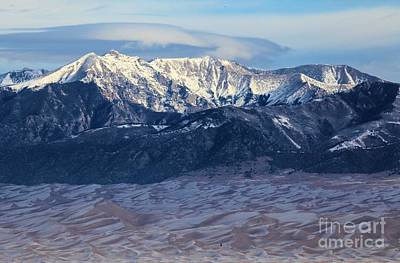 Photograph - Dunes Clouds And Snowcaps by Adam Jewell
