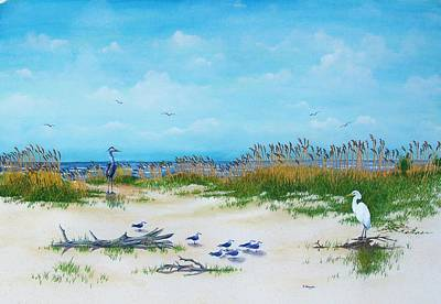 Dunes Denizens Art Print