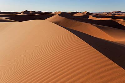 Dunes, Erg Chebbi, Sahara Desert Art Print