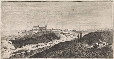 Zandvoort Drawing - Dunes Near Zandvoort, The Netherlands, Jan Van De Velde II by Jan Van De Velde (ii) And Cornelis Willemsz Blaeu-laken