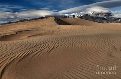 Photograph - Dunes Ripples And Clouds by Adam Jewell