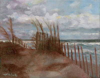 Sand Fences Drawing - Dunes  by Robert H Smith