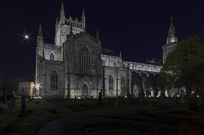 Photograph - Dunfermline Abbey By Night 1 Of 6 by Ross G Strachan