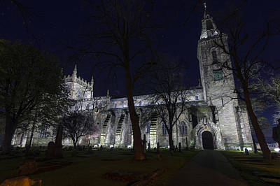 Photograph - Dunfermline Abbey By Night 3 Of 6 by Ross G Strachan
