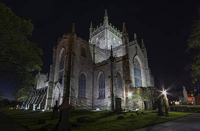 Photograph - Dunfermline Abbey By Night 4 Of 6 by Ross G Strachan