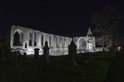 Photograph - Dunfermline Abbey By Night   The Palace   6 Of 6 by Ross G Strachan