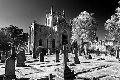 Photograph - Dunfermline Abbey Infrared by Ross G Strachan