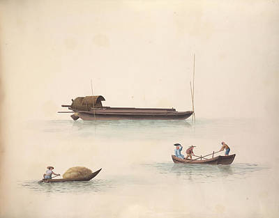 Illustration Technique Photograph - Dung Boat by British Library