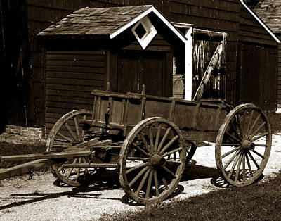 Antique Wagons Photograph - Dung Ho by Joseph G Holland