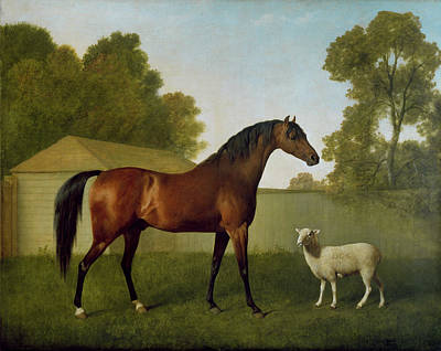 Dungannon, The Property Of Colonel Okelly, Painted In A Paddock With A Sheep, 1793 Art Print by George Stubbs