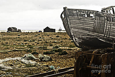 Dungeness Landscape Art Print by Lesley Rigg