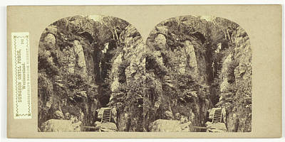 Dungeon Drawing - Dungeon Ghyll Force, Westmoreland, Uk, William Russell by Artokoloro