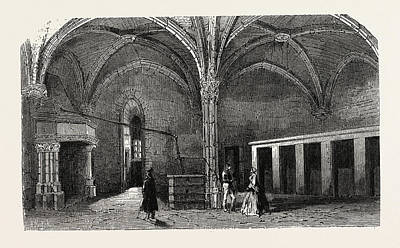 Vincennes Drawing - Dungeon Of Vincennes Hall Of Cardinals by Litz Collection