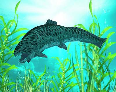 Paleozoology Photograph - Dunkleosteus Prehistoric Fish by Friedrich Saurer