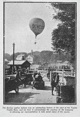 Dunlop Captive Hot Air Balloon Art Print