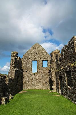Portrush Photograph - Dunluce Castle, A Medieval Castle Ruin by Jonathan Irish