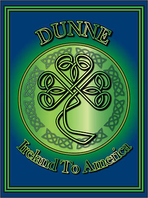 Digital Art - Dunne Ireland To America by Ireland Calling