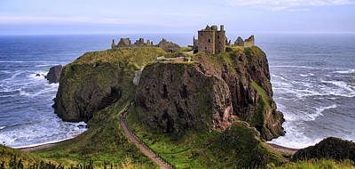 Photograph - Dunnottar Castle Panorama by Jason Politte