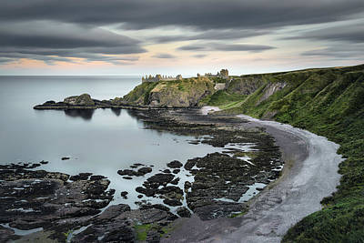 Dunnottar Twilight Art Print by Dave Bowman