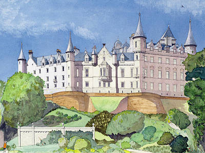 Restoration Painting - Dunrobin Castle by David Herbert