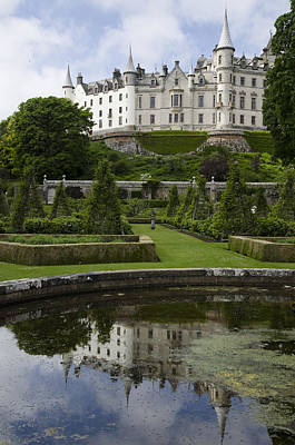 Photograph - Dunrobin Castle Reflections Sutherland Scotland by Sally Ross