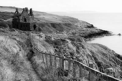 Photograph - Dunskey Castle by David Birchall