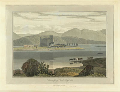 Dunstaffnage Castle In Argyllshire Print by British Library