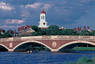 Weeks Bridge Charles River Art Print by Tom Wurl