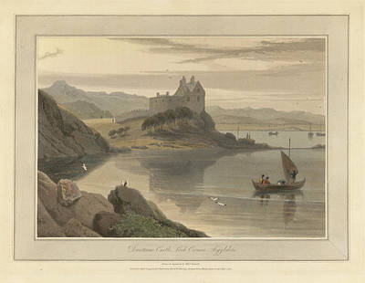 Dunstone Castle On Loch Crenan Art Print