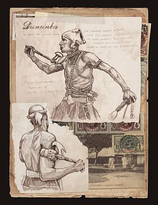 West Africa Mixed Media - Dununba Hamana by Dave Kobrenski