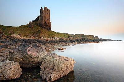 Photograph - Dunure Castle by Grant Glendinning